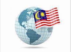 Globe with flag Illustration of flag of Malaysia