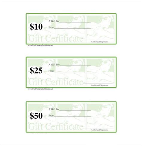 Free Downloadable Gift Certificate Templates by Gift Certificate Template 5 Free Word Pdf
