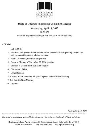 fundraising meeting agenda templates  word