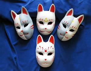 Fox masks by mishutka on deviantart for Kabuki mask template