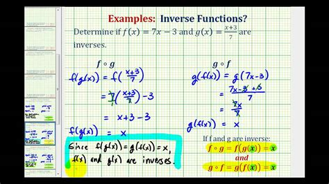 Determine If Two Functions Are Inverses