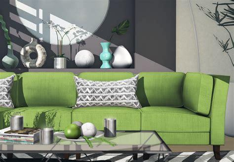 sofa verde de que color las paredes los mejores colores que combinan con verde para decorar