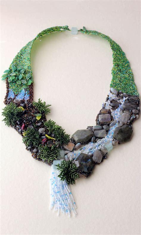 jewelry design bib style necklace  seed beads