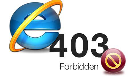 Internet Explorer Support Error 403 Access Denied