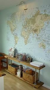 Carte Du Monde Deco Murale : le poster carte du monde g ante vous donne envie voyager ~ Dailycaller-alerts.com Idées de Décoration
