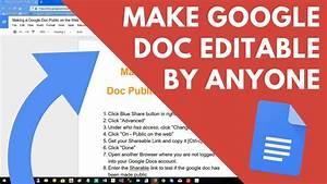 How To Make Google Docs Editable By Anyone