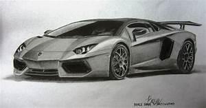 My Lamborghini Aventador Graphite Drawing.