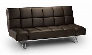 Alzira brown soft touch leather 3 position backrest sofa for Soft leather sofa bed