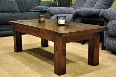 We even love the idea of painting it a really bright colour so it pops out from the rest of the decor like a statement piece! Rustic Wood Coffee Table Design Images Photos Pictures