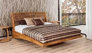 Bett Design Holz : nett holz bett holzbett schwebend moderne design aus massivem eichenholz mit elegante kopfteil f ~ Frokenaadalensverden.com Haus und Dekorationen