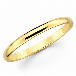 10K Solid Yellow Gold 2mm Plain Men39s And Women39s Wedding