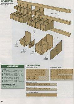 homemade nail  screw storage bins woodshop wooden