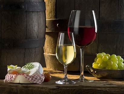 Cheese Wine Grapes Glasses