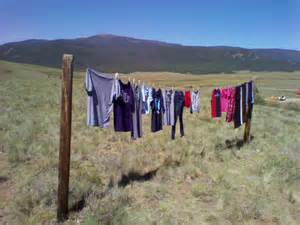 Dirty Laundry On Clothes Line
