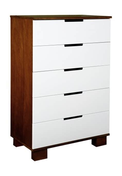 Babyletto Modo Dresser White by Babyletto Modo 5 Drawer Dresser In Espresso White Thiago