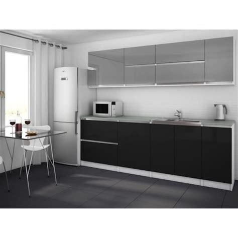cuisine gris noir moderna gris noir cuisine complète 260 cm achat