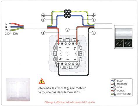 connection interrupteur de volet roulant