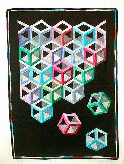 Quilts Hollow 3d Cubes Cube Blocks Tumbling