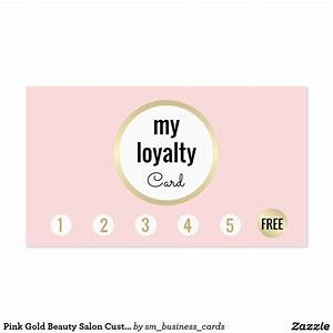 Pink Gold Beauty Salon Customer Loyalty 6 Punch Business ...