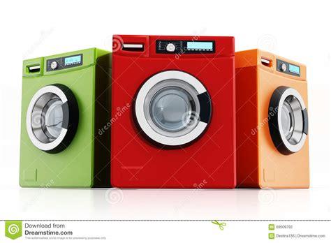 Multi Colored Washing Machines Stock Illustration Image