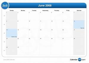 June 2008 Calendar