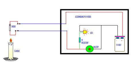 wiring diagram for a simple alarm system circuit