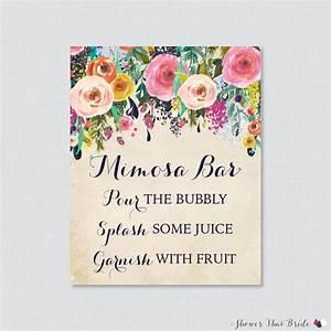 mimosa bar printable