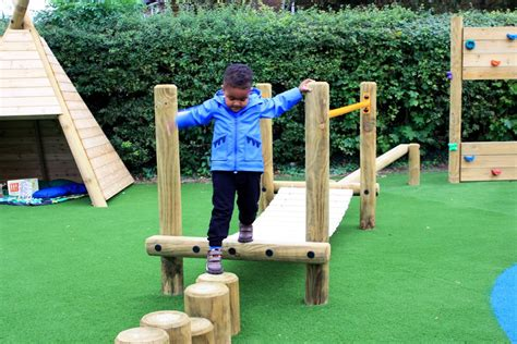 bright sparks preschool s playground design pentagon play 752 | preschool trim trail equipment