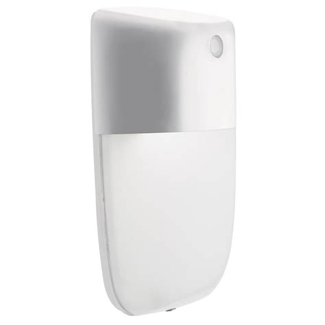 lithonia lighting ovwp white outdoor integrated led wall light with dusk to dawn photocell