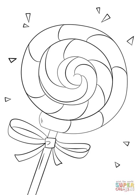 lollipop coloring page  printable coloring pages