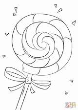 Lollipop Coloring Colouring Drawing Printable Lolly Candy Ice Candyland Lollipops Sheets Template Supercoloring Swirl Coloriage Paper Rainbow Young Patterns Templates sketch template