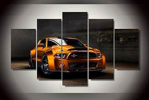 Framed Printed ford mustang gt500 Painting children's room decor print poster picture canvas ...
