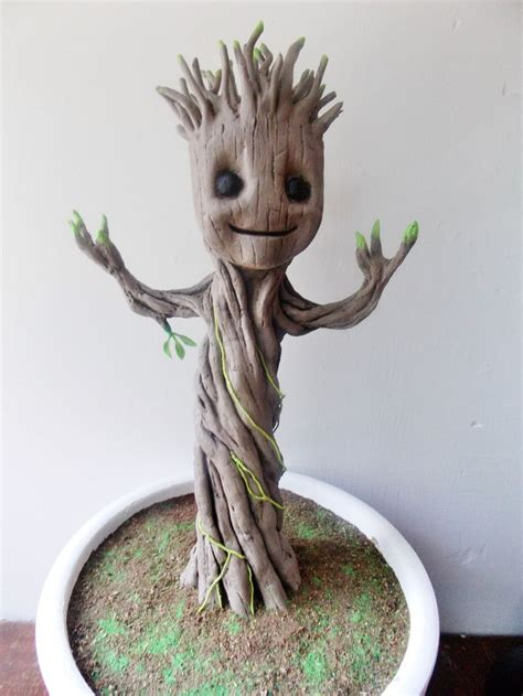 baby groot polymer clay critters baby groot groot toy