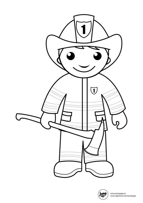 11418 community helpers clipart black and white 1000 images about on fireman cake