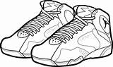 Coloring Jordan Shoes Pages Shoe Nike Air Drawing Printable Cartoon Lebron Michael Bordeaux Sneakers Basketball Sheet Dunking Print Clipart Drawings sketch template