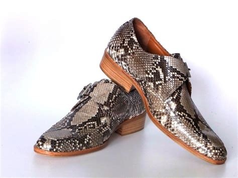 metal buckle loafers genuine python snake skin leather buckle belt mens