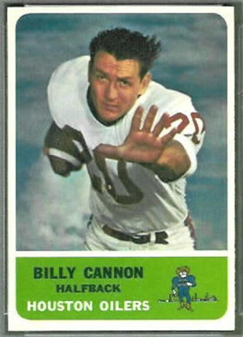 billy cannon  fleer  vintage football card gallery