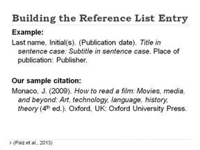 APA Citation Format Example