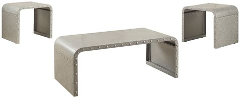 galvanized steel coffee table galvanized metal coffee table from coaster coleman furniture