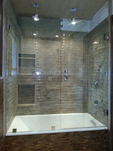 frameless shower doors bathtub remodel glass shower tub