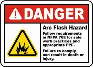 danger arc flash hazard label j5517 by safetysigncom With arc flash danger label