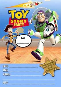 free kids party invitations toy story party invitation With toy story invites templates free