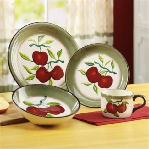 piece apple  branch dinnerware