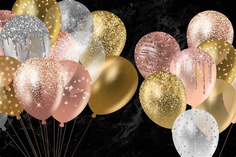 Glitter Balloons Clipart
