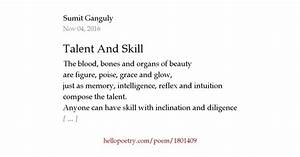 Talent And Skil... Talent Poems Quotes