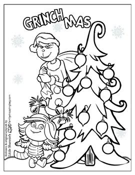 coloring page  grinch christmas grinch coloring pages