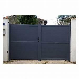 Portail Alu En Kit : portail en aluminium deux battants ~ Edinachiropracticcenter.com Idées de Décoration