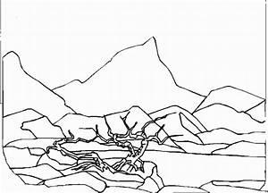 Free Desert Landscape Coloring Pages