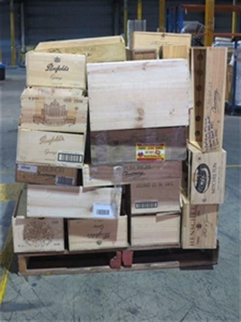 pallet  empty wooden wine boxes auction
