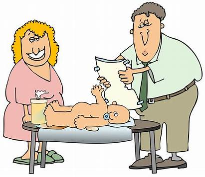 Diaper Changing Clipart His Father Cartoon Change